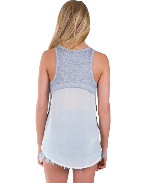 Others Follow Women's Be Mine Heart Grey Tank Top , Grey, hi-res