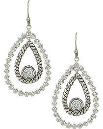 Montana Silversmiths Women's Hidden Treasure Raindrop Earrings, , hi-res
