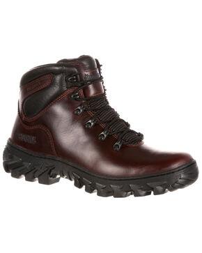 Rocky Men's Jungle Hunter Waterproof Hiker Boots - Round Toe, Dark Brown, hi-res