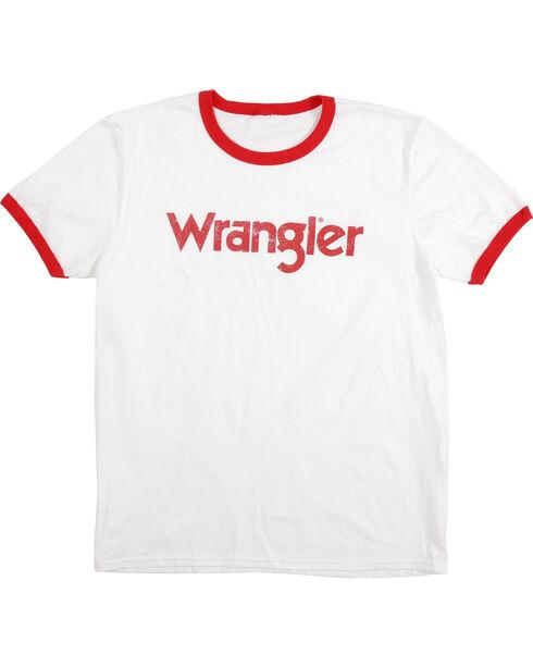 Wrangler Men's White Ringer Tee, White, hi-res