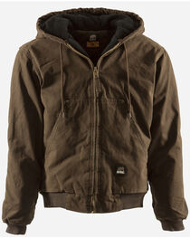 Berne Original Washed Hooded Jacket - Quilt Lined - XLT and 2XT, , hi-res