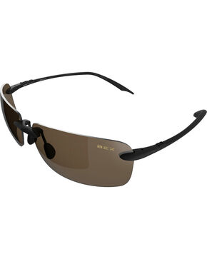 Bex Men's Jaxyn III Polarized Black/Brown Sunglasses, Brown, hi-res