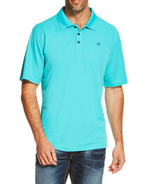 Ariat Men's Turquoise Tek Polo, , hi-res
