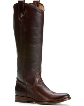 Frye Women's Melissa Button Boots, Dark Brown, hi-res