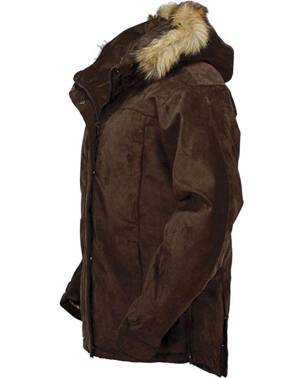 Outback Trading Co. Women's Micro Fleece Coat, Brown, hi-res