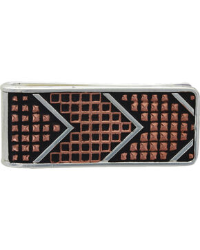 Montana Silversmiths Men's CrossCut Copper Money Clip, Silver, hi-res