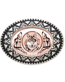 Western Express Men's Copper Wolves Belt Buckle , , hi-res