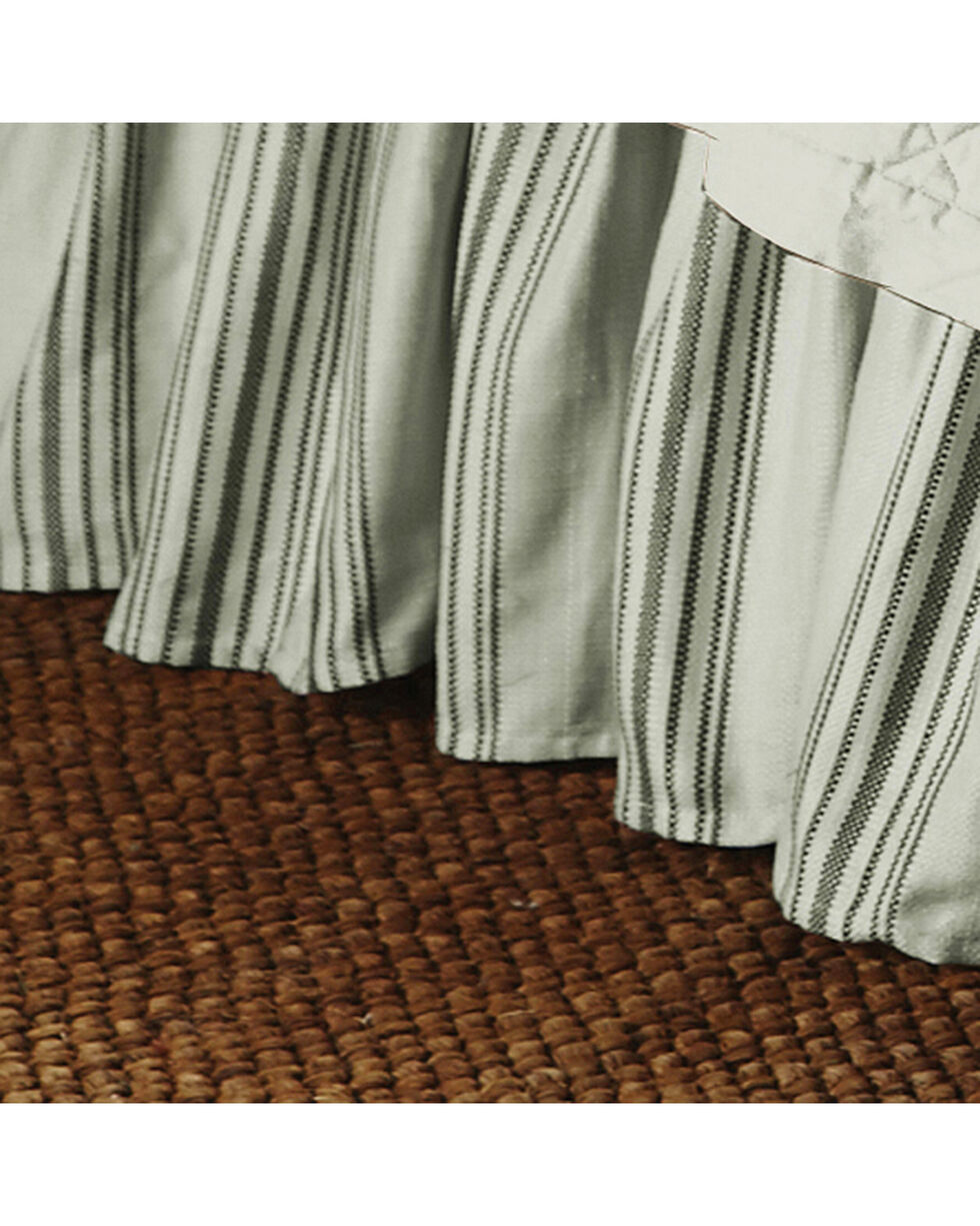 HiEnd Accents Prescott Taupe Stripe Bedskirt - King, Taupe, hi-res