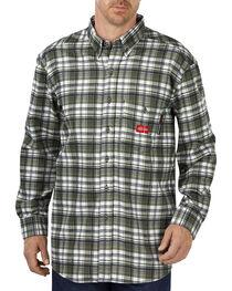 Dickies Men's Flame Resistant Plaid Shirt, , hi-res