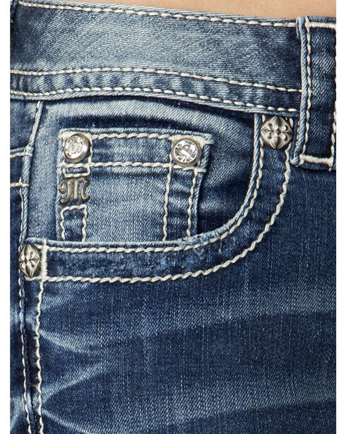 Miss Me Women's Indigo Narrow Escape Ankle Jeans - Extended Sizes, Indigo, hi-res