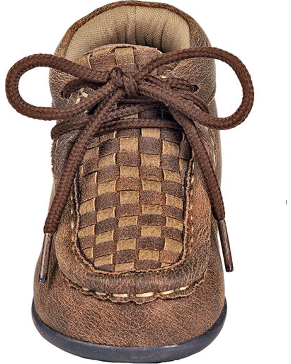 Double Barrel Toddler Boys' Brown Carson Chukka Shoes, Brown, hi-res
