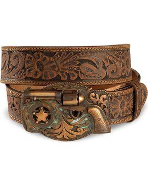 Justin Men's Trigger Happy Belt, Brown, hi-res