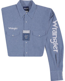 Wrangler Men's Indigo Western Logo Shirt, , hi-res