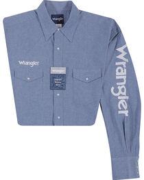 Wrangler Men's Indigo Western Logo Shirt - Tall , , hi-res