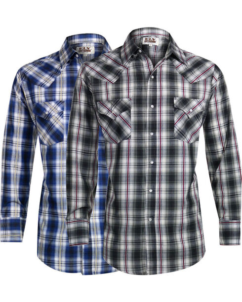 Ely Cattleman Men's Assorted Textured Long Sleeve Shirt, Multi, hi-res