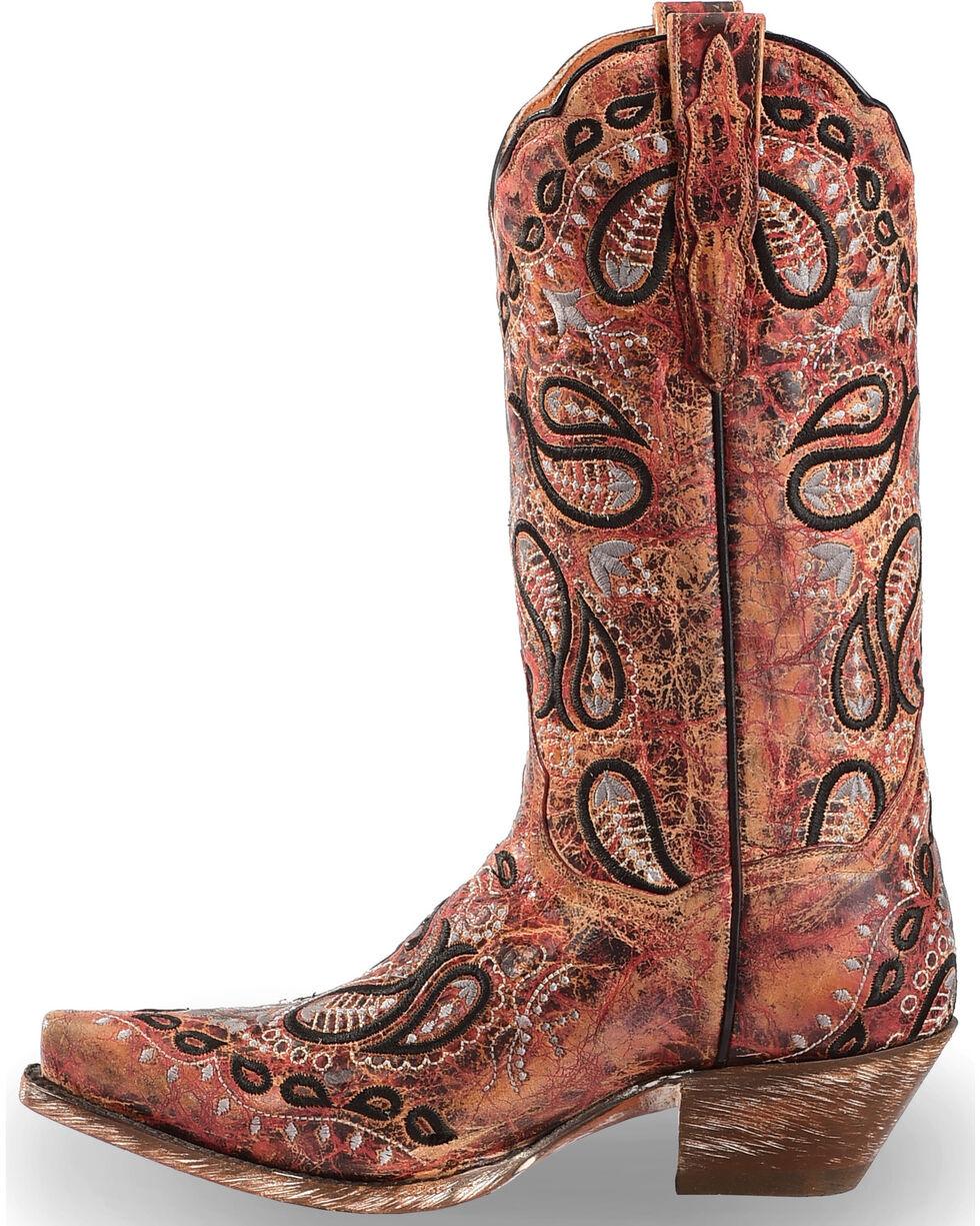 Dan Post Women's Heavy Embroidery Western Boots - Snip Toe, , hi-res