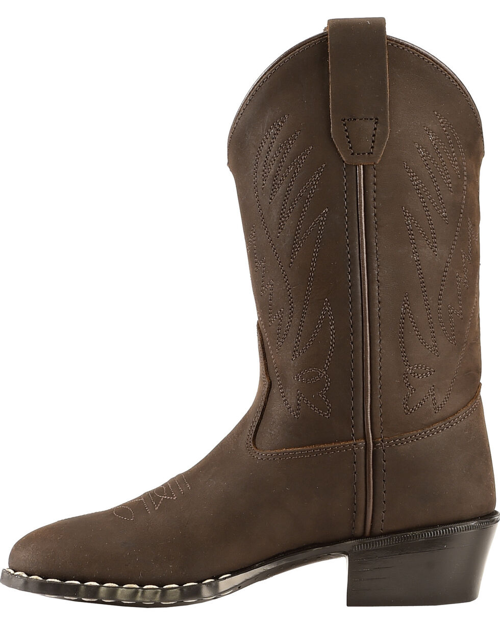 Old West Boys' Cowboy Boots - Round Toe, Distressed, hi-res