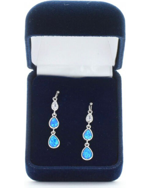 Montana Silversmiths Women's Silver River of Lights Falling into Water Earrings , Silver, hi-res
