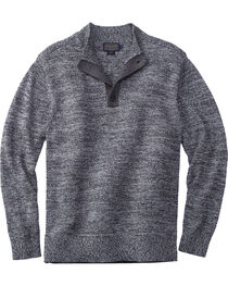 Pendleton Men's Black Marl Button-Henley Sweater , , hi-res