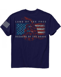 "Buckwear Men's ""Land of the Free"" Tee, , hi-res"