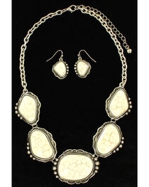 Blazin Roxx Women's Cluster White Stone Jewelry Set , , hi-res