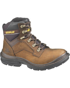 CAT Men's Generator Work Boots, Dark Brown, hi-res