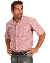 Wrangler George Strait Men's Plaid Short Sleeve Shirt , , hi-res