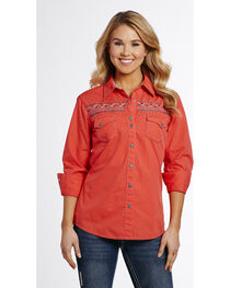 Cowgirl Up Women's Embroidered Snap Shirt , , hi-res