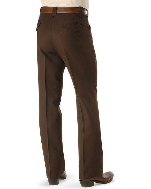 Circle S Men's Heather Ranch Dress Pants, Chocolate, hi-res