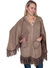 Scully Honey Creek Hooded Zip Front Poncho, , hi-res