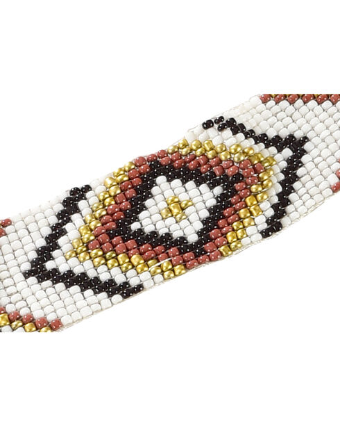 Shyanne Women's Diamond Beaded Headband, White, hi-res