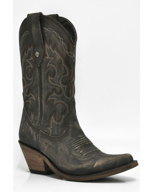 Liberty Black Women's Vintage Canela Western Cowgirl Boots - Pointed Toe , Brown, hi-res