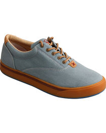 Hooey Lopers by Twisted X Men's Blue Canvas Shoes , , hi-res