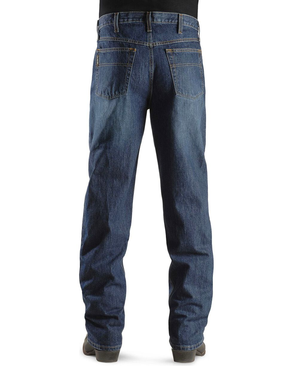 Cinch Men's Black Label Relaxed Fit Stonewash Jeans, Dark Stone, hi-res