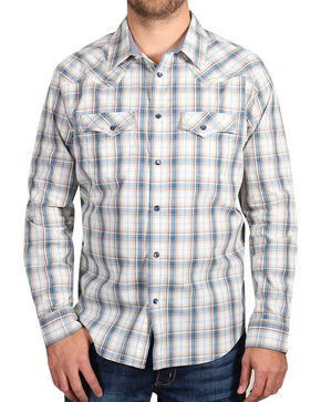 Cody James® Men's Western Long Sleeve Shirt, White, hi-res