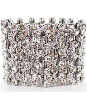 Shyanne Women's Bling Stretch Bracelet, Silver, hi-res