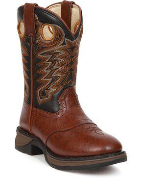 Durango Kid's Lil's Western Boots, Chestnut, hi-res