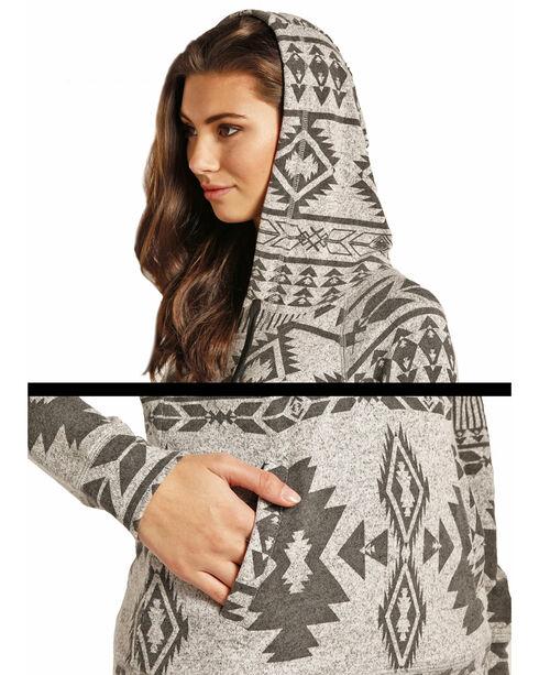 Rock & Roll Cowgirl Women's Aztec Print Hoodie , Black, hi-res