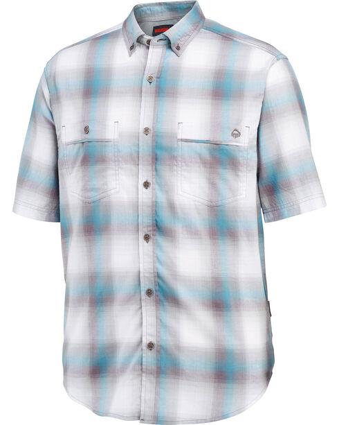 Wolverine Men's Springsport Short Sleeve Shirt, Blue, hi-res