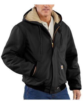Carhartt Men's Flame-Resistant Duck Active Work Jackets, Black, hi-res