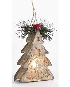 BB Ranch Kneeling Cowboy LED Ornament, No Color, hi-res
