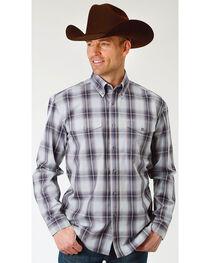 Roper Men's Winter Plum Plaid Long Sleeve Button Down Shirt, , hi-res