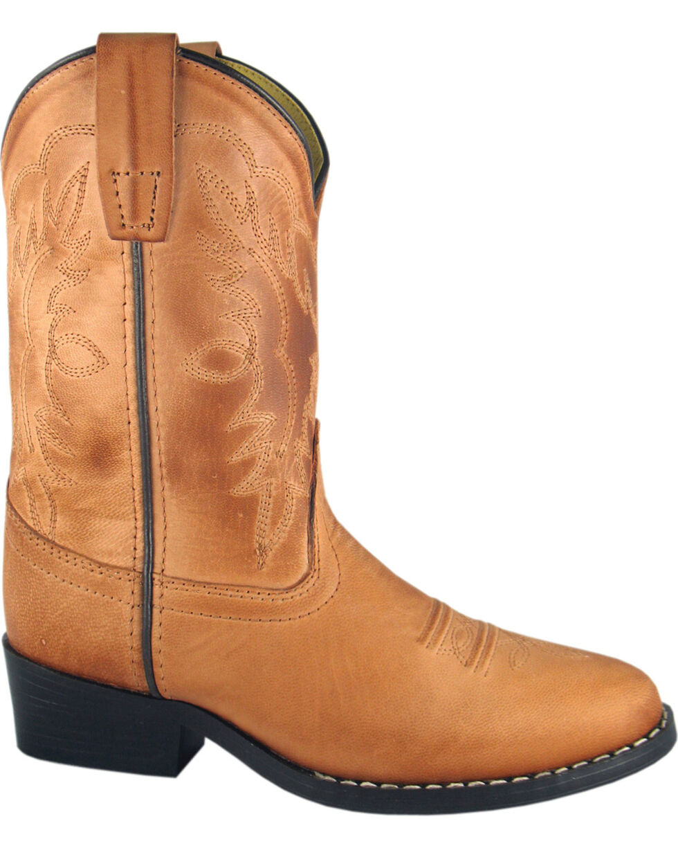 Smoky Mountain Boys' Bomber Western Boots - Round Toe, Tan, hi-res