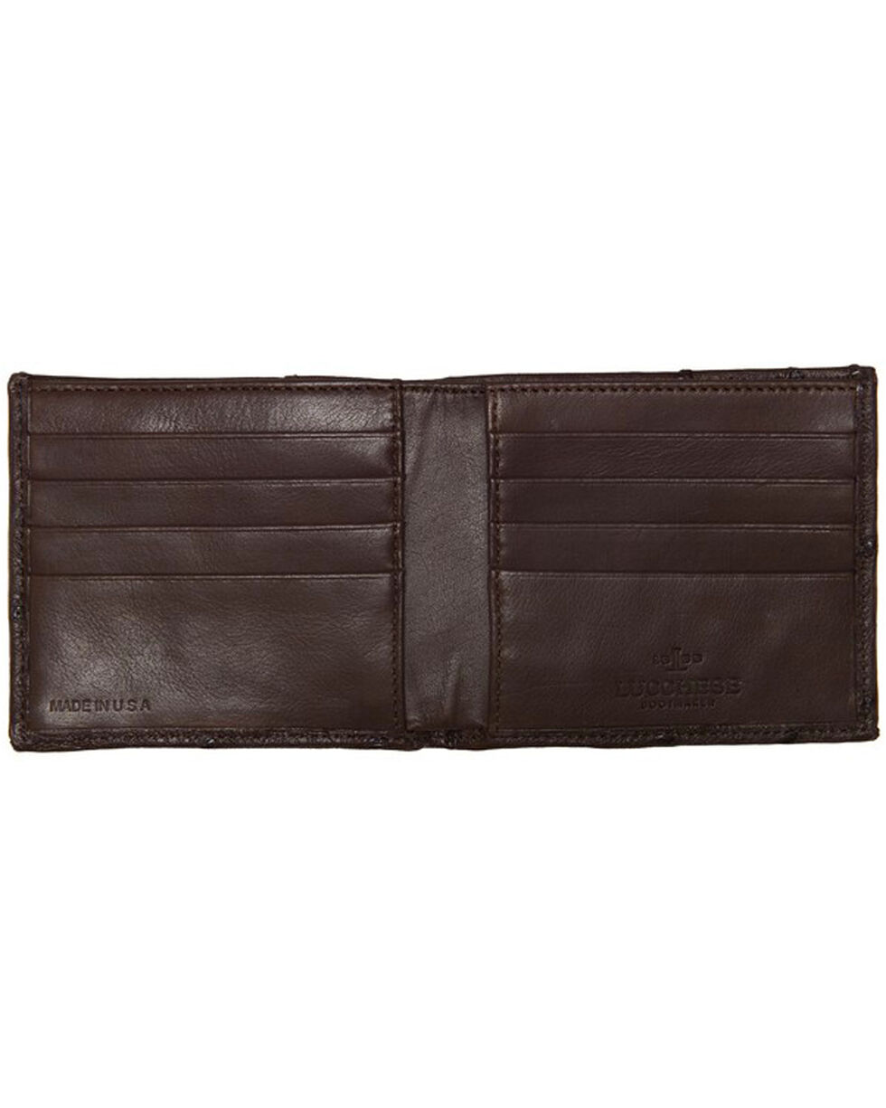 Lucchese Men's Sienna Ostrich Hipster Wallet , Brown, hi-res