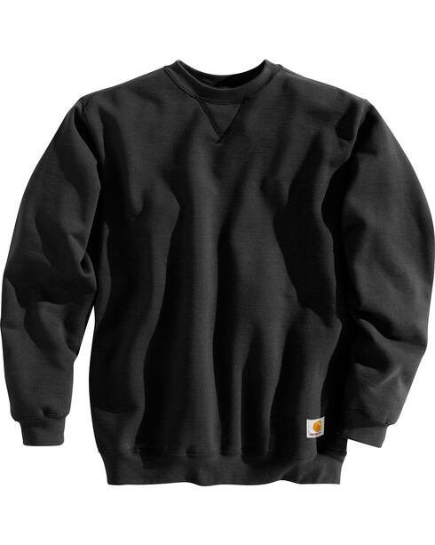 Carhartt Men's Midweight Crewneck Sweater, Black, hi-res