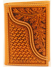 Nocona Men's Leaves and Acorns Basket Weave Rodeo Wallet, , hi-res