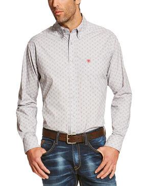 Ariat Men's Silver Reyes Sconce Long Sleeve Western Shirt , Silver, hi-res