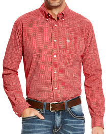 Ariat Men's Batson Fitted Poplin Print Button Down Shirt, , hi-res