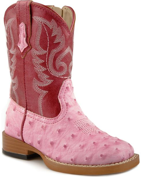 Roper Infant Western Boots, Pink, hi-res