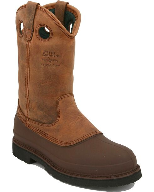Georgia Men's Muddog Comfort Core Work Boots, Tan, hi-res